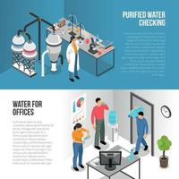 Water Purification Banners Vector Illustration