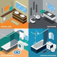 Sanitary Engineering Isometric Design Concept Vector Illustration