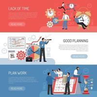 Flat Planning Banners Vector Illustration