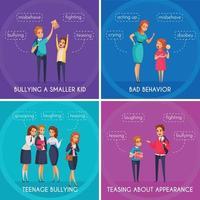 Students Bullying Design Concept Vector Illustration