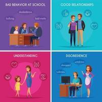 Parenthood Cases Design Concept Vector Illustration