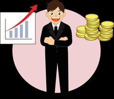 successful businessman working vector