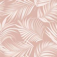 patrón transparente de vector de hoja de palma