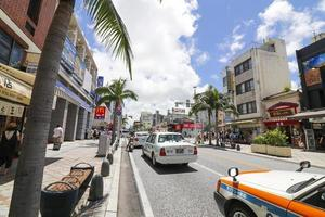 Okinawa, Japan 2016- City street in summer photo