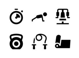 Simple Set of Fitness Related Vector Solid Icons