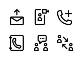 Simple Set of Communication Related Vector Line Icons