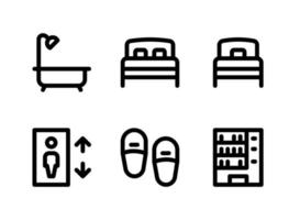Simple Set of Hotel Service Related Vector Line Icons