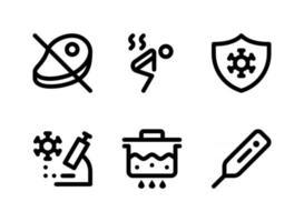 Simple Set of Coronavirus Related Vector Line Icons