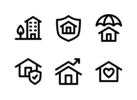 Simple Set of Real Estate Vector Line Icons