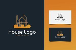 Real Estate Logo with Creative Concept vector