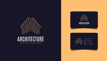 Real Estate Logo in Line Style with Simple and Minimalist Concept vector