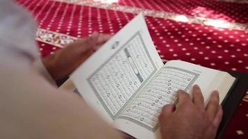 mezquita musulmana leyendo el corán video