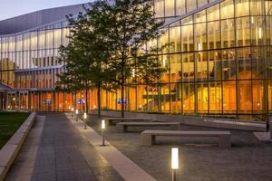Filadelfia, Pensilvania, 13 de noviembre de 2016 - Edificio de investigación académica de Filadelfia por la noche foto