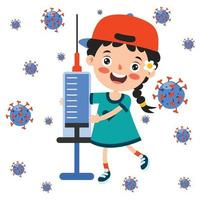 Health Care Concept With Vaccination vector