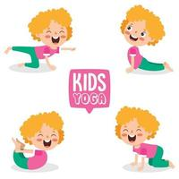 Funny Kid In Yoga Pose vector