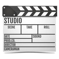 Realistic Movie clapper board Vector