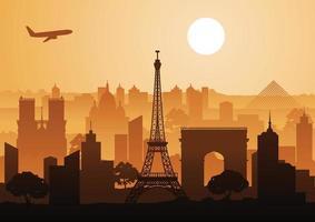 landmark of France vector