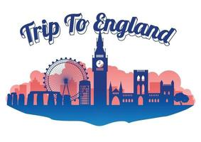 England famous landmark vector