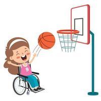 Funny Cartoon Handicapped Kid Posing vector