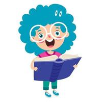 Education Concept With Funny School Child vector