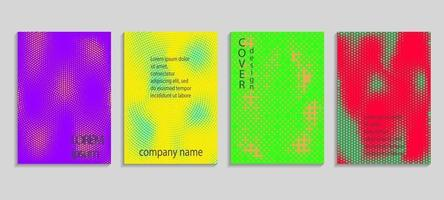 plantilla de diseño de portada de semitono de vector abstracto mínimo