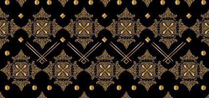 vector de diseño de patrón de batik indonesio de lujo