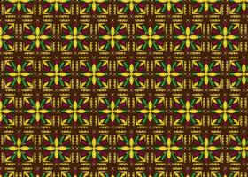Decorative floral indonesian batik patterns design vector