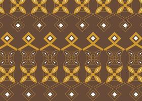 diseño de patrones de batik indonesio floral decorativo vector