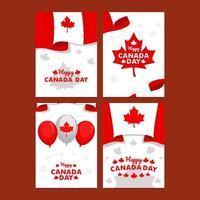 Happy Canada Day Card vector