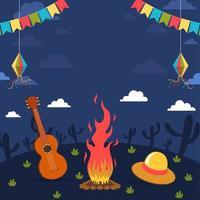 Festa Junina Night Party Concept vector