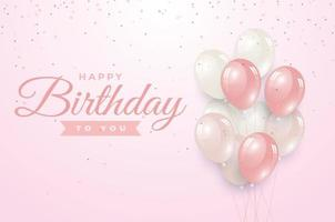 happy birthday greeting template vector