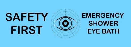 Safety first Emergency shower eye bath vector