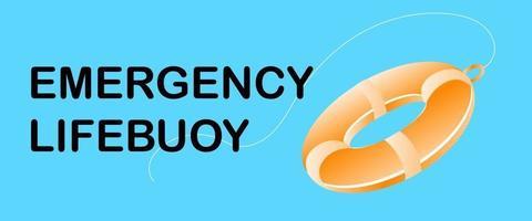 signo de símbolo de salvavidas de emergencia vector