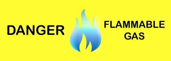 señal de advertencia señal de gas inflamable vector