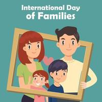 international day of families greeting template vector