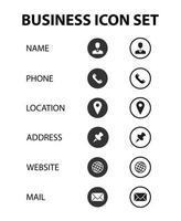 business communication icon set collection vector