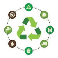 recycle icon set collection vector