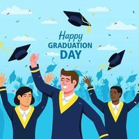 Happy Graduation Day Concept vector
