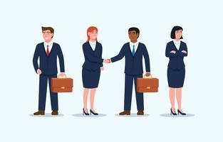 conjunto de personajes de personas de negocios vector