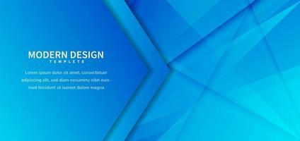 Fondo diagonal azul abstracto de vector de plantilla para banner de negocios para anuncio