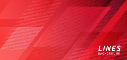 fondo de línea de raya moderna geométrica tecnología abstracta roja plantilla de fondo moderno vector