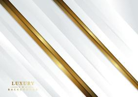 Abstract geometric gold and white color shiny diagonal white background luxury style vector