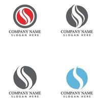 vector de diseño de logotipo de letra s corporativa empresarial