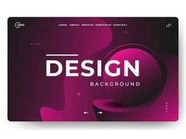 3D Abstract Background Pink Minimal for landing pages vector