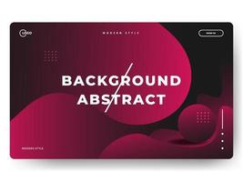 3D Abstract Background Red Minimal for landing pages vector