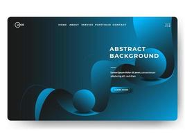 3D Abstract Background Blue Minimal for landing pages vector
