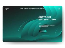 3D Abstract Background Green Minimal for landing pages vector
