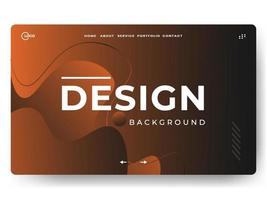 3D Abstract Background Orange Minimal for landing pages vector