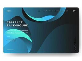 Liquid Abstract Background Blue Minimal for landing pages vector