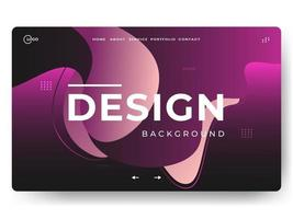 Liquid Abstract Background Pink Minimal for landing pages vector
